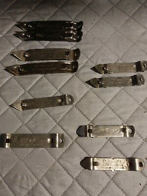 Lot of 10 Vintage Advertising Beer Bottle and Can Openers - Multiple Brands