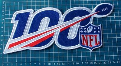 """2019 NFL Football 100th Anniversary Seasons Patch Football Jersey 10"""" embroid"""