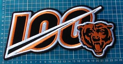 """Chicago Bears 100th Anniversary seasons logo Patch 10"""" NFL Football embroidered"""