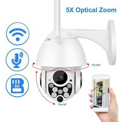 Telecamera IP Camera 2MP HD 1080P Wifi Wireless PTZ P2P Motorizzata 5X Zoom Dome