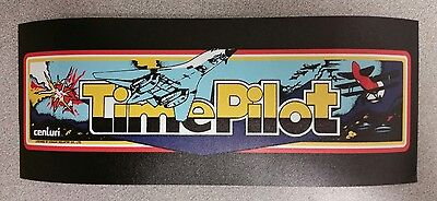 Time Pilot marquee sticker. 4 x 10. (Buy any 3 of my stickers, GET ONE FREE!)