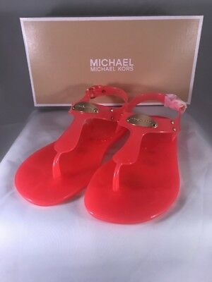 aa0865551520 MICHAEL KORS Plate Jelly Thong Sandals in Color Smoke Multi Sizes ...