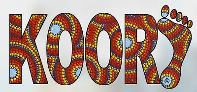Koori Aboriginal Sticker. Dot art. Original artwork.