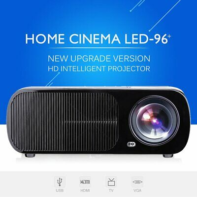 LESHP BL20 4K 8000 Lumens 3D 1080P HD LED Projector Home Cinema HDMI UK Stock