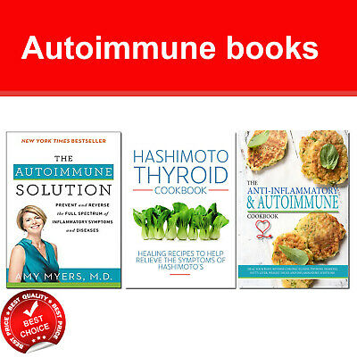 Medical Autoimmune Solution 3 Books Set Pack Hashimoto Thyroid Cookbook NEW
