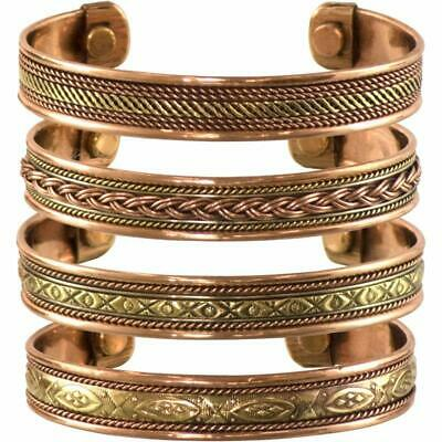 Tibetan Copper Bracelet Magnetic Jewelry Arthritis Solutions For Women Men 4pcs