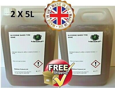 GLYCERINE TYRE DRESSING UNIVERSAL SHINE CAR 2 x 5 L FREE DELIVERY 10LITRES