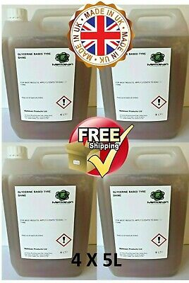 GLYCERINE TYRE DRESSING  UNIVERSAL SHINE 4 x 5 L FREE DELIVERY 20 LTR