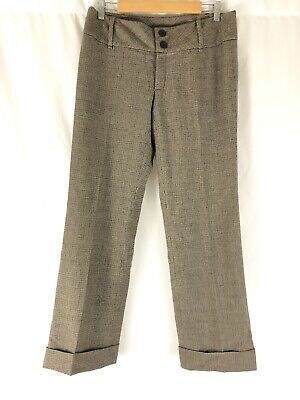 Clothing, Shoes & Accessories Banana Republic Womens Size 0 Stretch Brown Tweed Dress Pants Wide Leg Wool Women's Clothing
