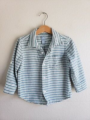 Baby Gap Boys Striped Button Down Shirt Size 2 Years