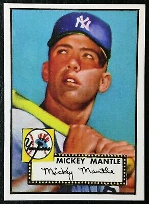 1952 Topps #311 Mickey Mantle Rookie Reprint - MINI - MINT