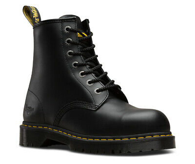 DR MARTENS Icon 7B10 SB black steel toe cap safety boot (code 6601) size 3-13