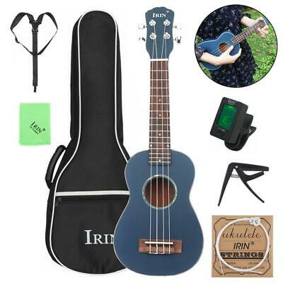 21 Inch Soprano Ukulele Spruce Wood 4 Strings + Bag +Turner + String Capo Strap