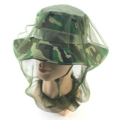 Anti-mosquito Bee Bug Insect Fly Mask Cap Hat Net Mesh Outdoor Face Protection
