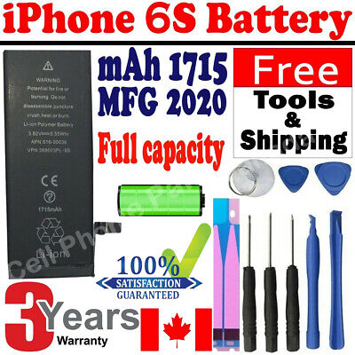 Brand NEW Orignal OEM Replacement iPhone 6S Battery 1715 mAh With Free Tools