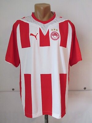 7a507e230 Olympiacos Fc 2009 2010 Home Football Shirt Soccer Jersey Camiseta Puma  Greece L