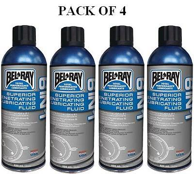 4 cans BEL-RAY 6 IN 1 SUPERIOR PENETRATING & LUBRICATING FLUID 400ML 99020-A400W