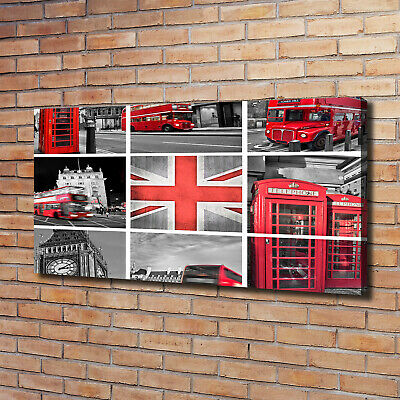 Leinwandbild Kunst-Druck 120x60 Bilder Collage London