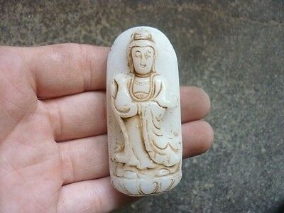 Chinese ,jade, noble collection, manual sculpture, jade, guanyin,pendant A78=