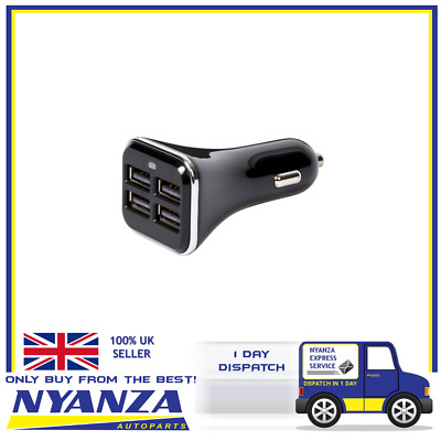 Ring In-Car Charger Dual Smart 4 X Usb Suitable For All Mobiles Fast Charge 6.8A