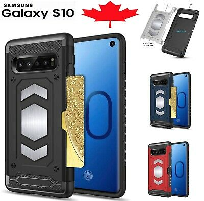 For Samsung Galaxy S10 /Plus S10e Case Shockproof Card Slot Magnetic Heavy Duty