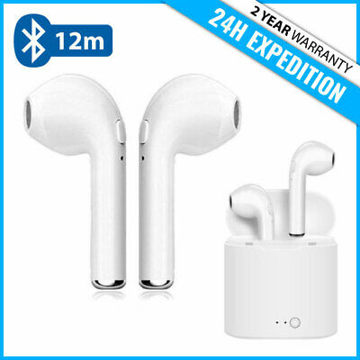 i7s TWS WIRELESS BLUETOOTH 5.0 AIR EAR BUDS EARPHONES PODS ECOUTEUR + MICROPHONE