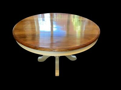 Stunning Art Deco Mahogany & Cream Circular Grand dining table. French polished.