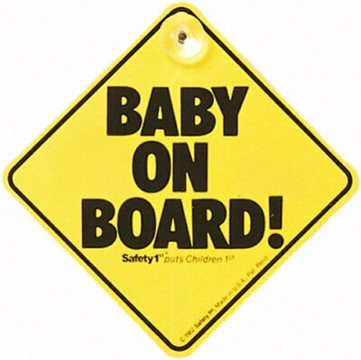 Safety 1st Baby On Board Car Window Safety Sign With Suction Cup