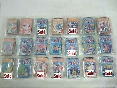 Raki Suta & Other Anime Zippo (Can ship only outer case without lighter inside.)