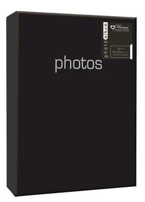 "4""x 6"" Black Foil Photo Album 80 Picture Slip In Photograph Album"