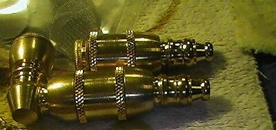 2 shiny  Brass pipes,metal pipes, repair,rebuild WITH 25 faucet FILTERS --B