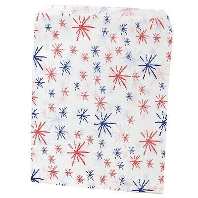 Red and Blue Starburst Paper Bags Gift Party Sweet Shop Kids Candies [All Sizes]