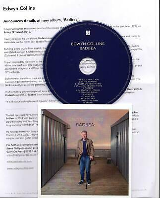 Edwyn Collins 2019 PROMO CD ALBUM Badbea