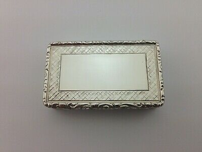 Antique Victorian Solid Sterling Silver Snuff Box Francis Clarke