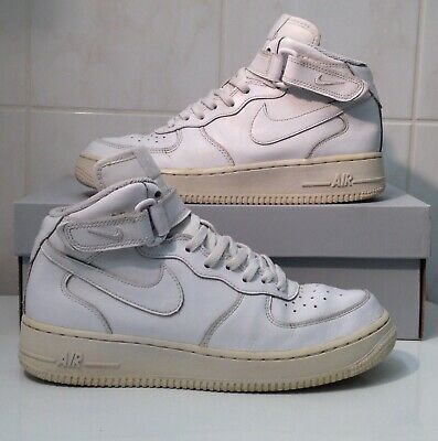pretty nice 454e3 f988a NIKE AIR FORCE ONE 1 all WHITE Premium Limited off 2014 EUR39 UK6 USED! MAX