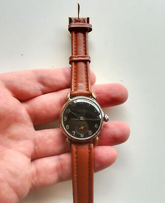 Vintage Ww2 German Officer Swiss Made Titus Geneve Genf Military Wrist Watch