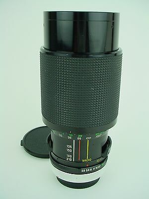 Vivitar 70-210mm F/3.5 VMC Series 1 Macro Focusing Zoom Lens Canon FD mount