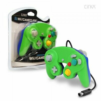 Brand New Controller for Nintendo GameCube or Wii -- Green / Blue LUIGI