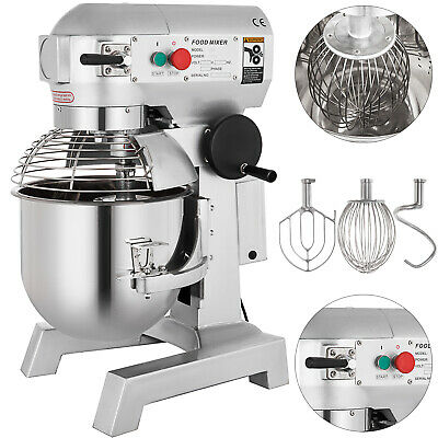 9Qt Electric Food Stand Mixer Dough Mixer Bread Commercial Stainless Steel Bowl