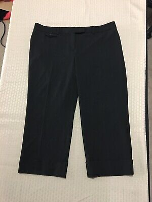 The Limited Drew Fit Woman's Black Cuffed Crop Dress Pants Size 10