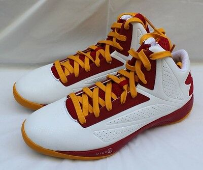 61d7d10ee43d2 Under Armour Micro G Torch Basketball Shoes Size 13.5 White/Red/Orange