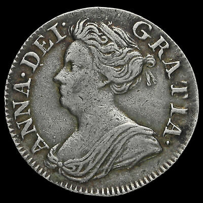 1713 Queen Anne Early Milled Silver Maundy Threepence