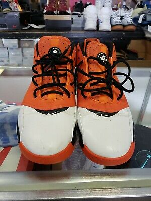 f4e9231b987a6 Nike Air Retro Huarache 64 White Orange black Basketball Shoes 313386 181  Sz 14