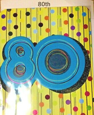80TH HAPPY BIRTHDAY CARD AGE 80 Years HALLMARK Choice Of 11