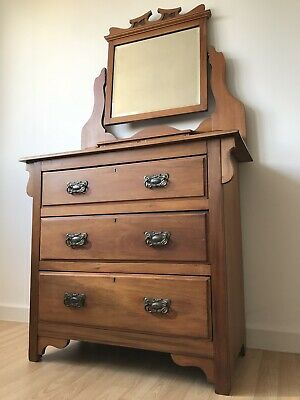 Antique Art Nouveau Dressing Table Chest of Drawers NATIONWIDE DELIVERY!