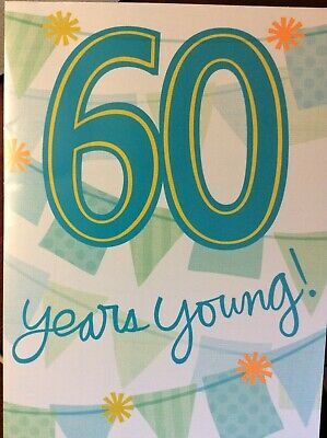 60th Musical BIRTHDAY Card Age 60 Years Music Young At Heart By Frank Sinatra