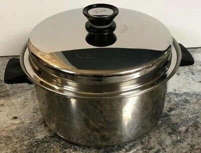 Rena Ware 6 Qt Dutch Oven Pot 18-8 Waterless Stainless 3 Ply W/ Amway Queen Lid