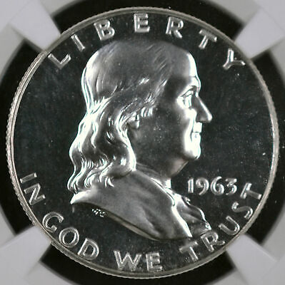1963 50C Franklin Half Dollar Proof - Ngc Pf 67