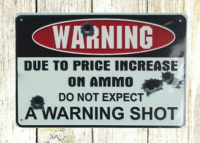 US SELLER- do not expect warning shot tin metal sign cafe  pub metal wall art