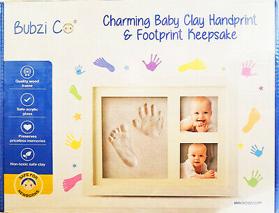 Bubzi Co Baby Handprint Kit & Footprint Keepsake